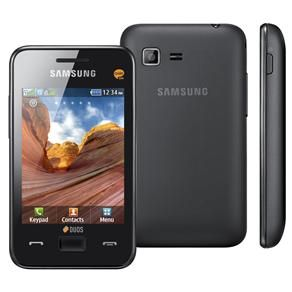 Celular Desbloqueado Samsung Star III Duos Preto com Dual Chip, Câmera 3.2MP, MP3, FM, Wi-Fi, Touch Screen, Bluetooth, Fone de Ouvido e Cartão 2GB