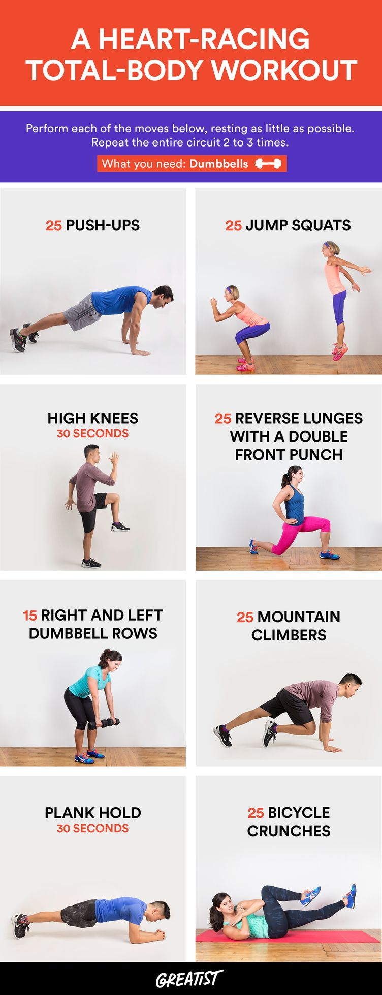 Total-Body Workout to Get Your Heart Racing