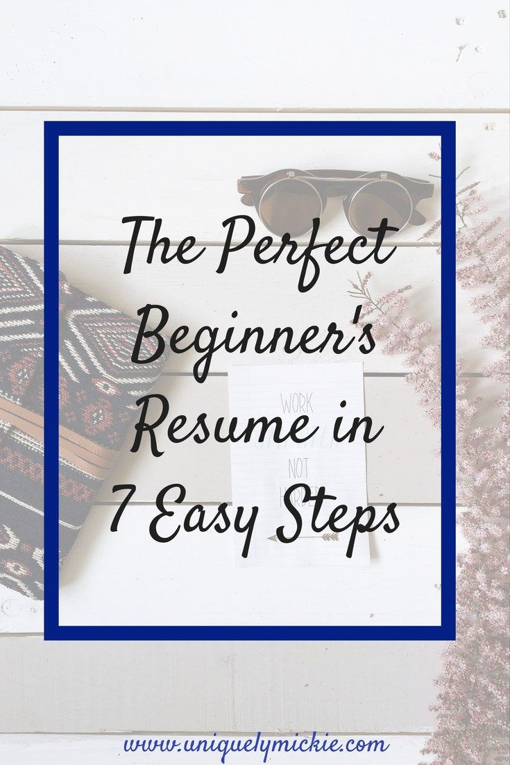 7 ways to build your resume with no experience