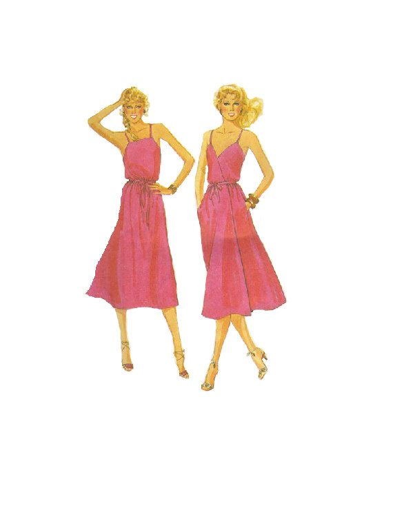1980s Disco Style Dress McCalls Sewing by AdeleBeeAnnPatterns, $8.00