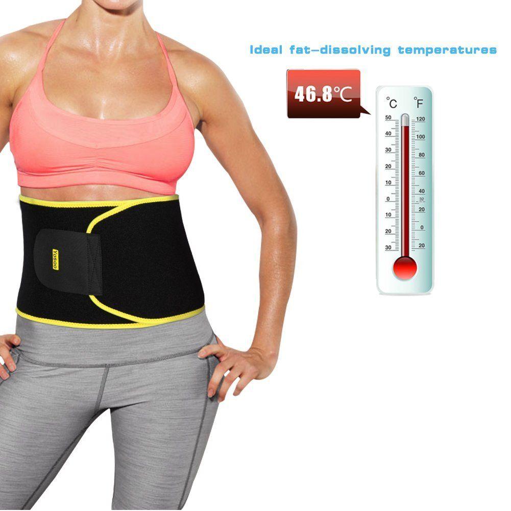 696adeab0f Yosoo Waist Trimmer Belt Neoprene Waist Sweat Band for Slimmer Water Weight  Loss Mobile Sauna Tummy Tuck Belts Strengthen Tummy Abs During Workout ...