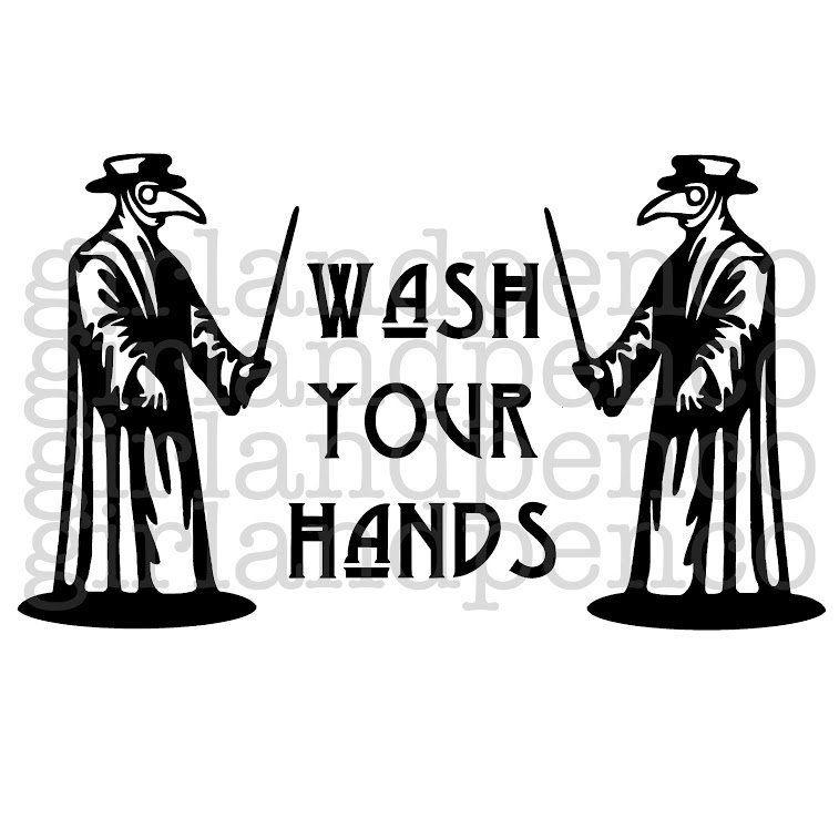 Svg Png Wash Your Hands Plague Doctor Bathroom Etsy In 2020 Plague Doctor Doctor Drawing Plague Doctor Mask