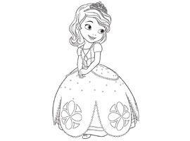 Kleurplaten Disney Junior.Disney Junior Print En Kleur Sofia Het Prinsesje Knutselen