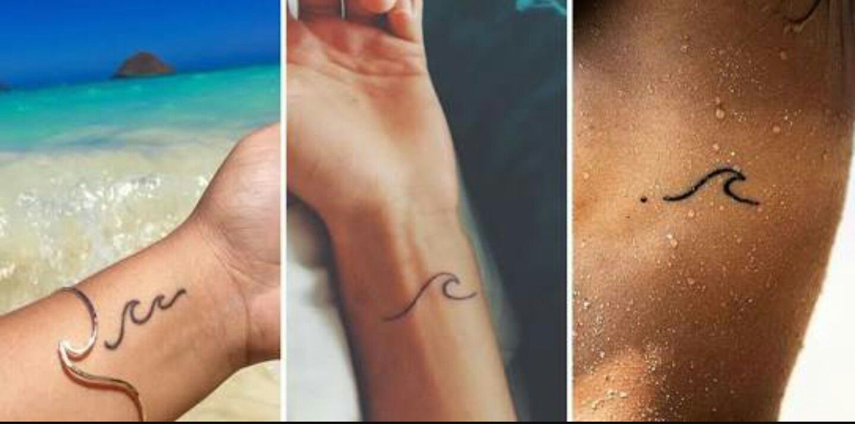 30++ Awesome Small wave tattoo on wrist image HD