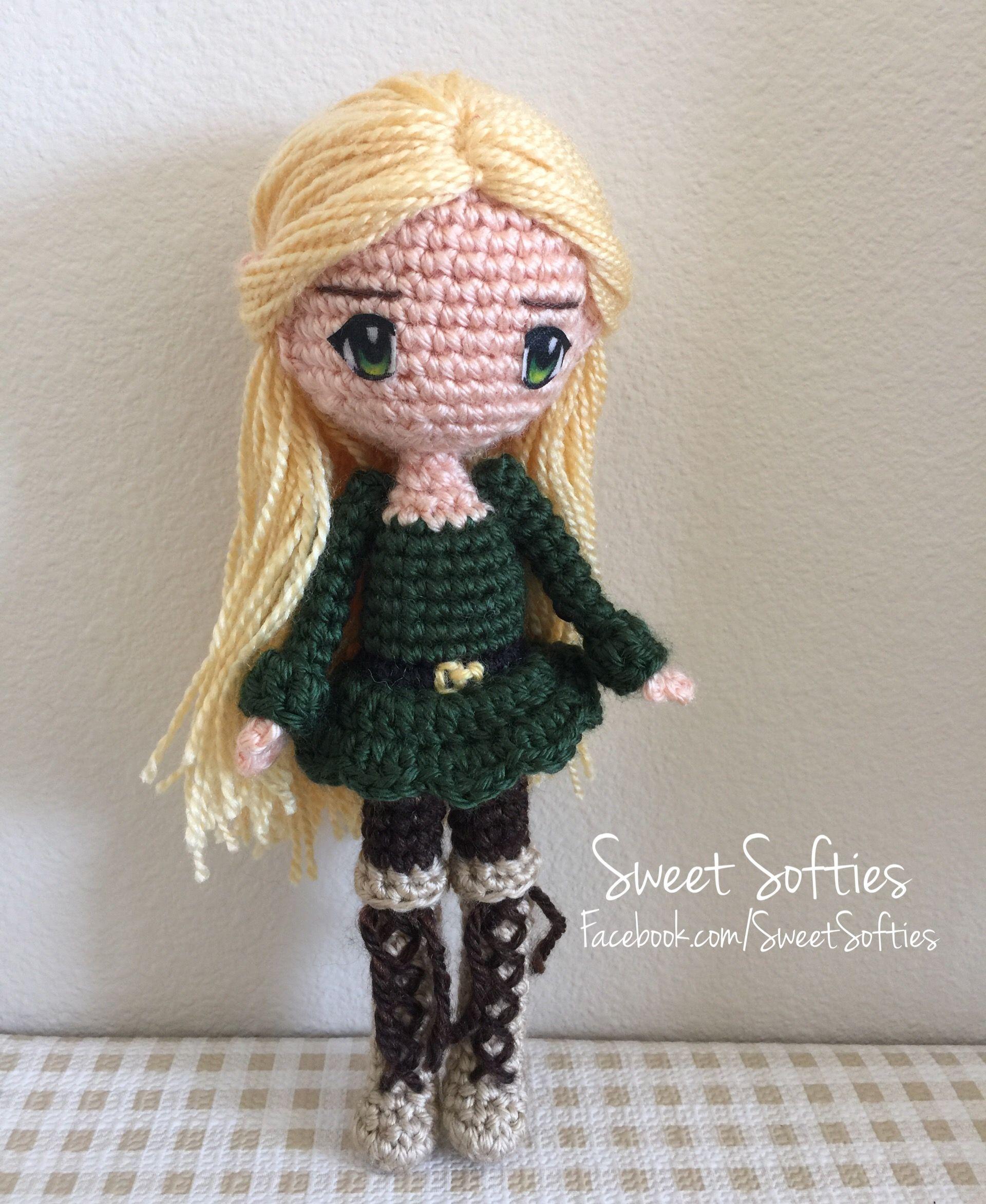 Amigurumi Human : Amigurumi crochet elf elven anime style doll kawaii sweet ...