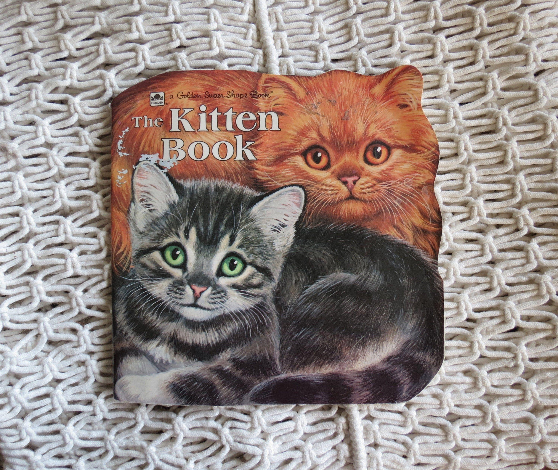 The Kitten Book Golden Shape Cat Book Etsy In 2020 Animal Books Cat Books Kitten