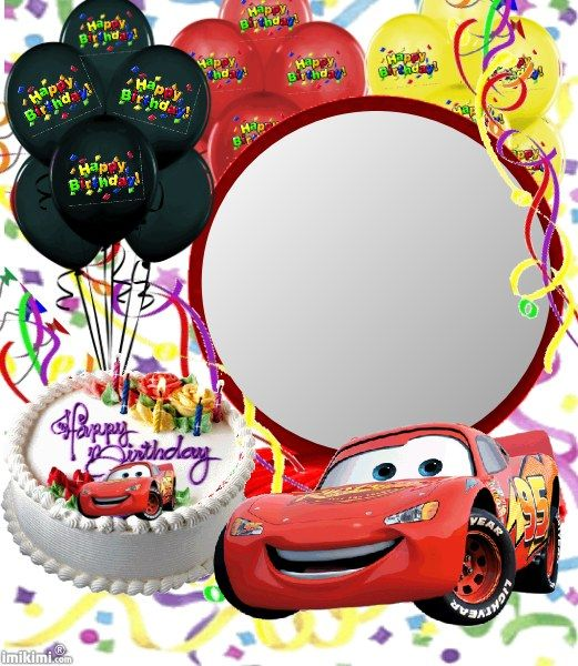 Birthday Card Cars Themed Click To Add A Photo And Send For Free From Imikimi Kids Birthdaycard