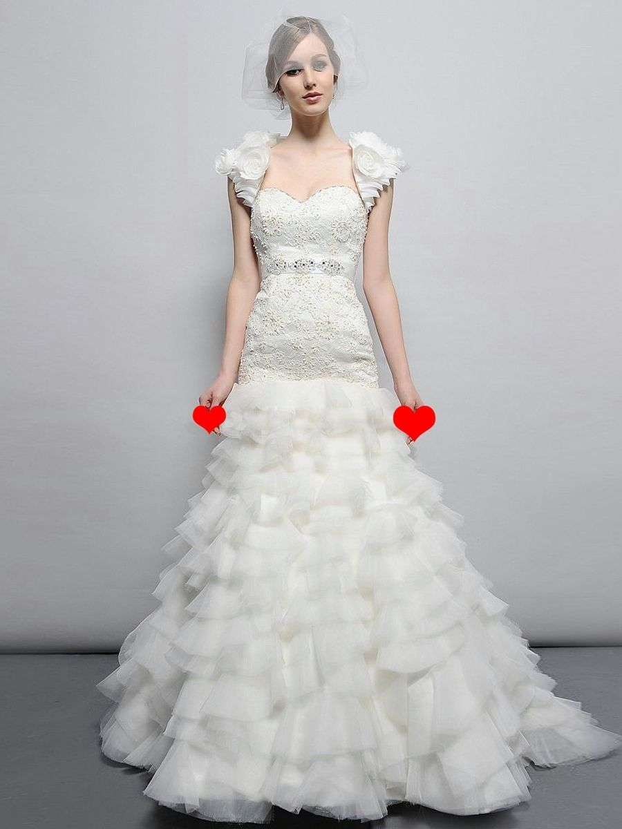 Wedding dresses with rhinestones  Magnificent Floorlength Sweetheart Embroidered bodice and Chiffon