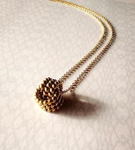 Vintage Knot Brass Necklace Jewelry Brass Necklace Jewelry Accessories