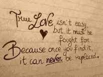 True love can never be replaced