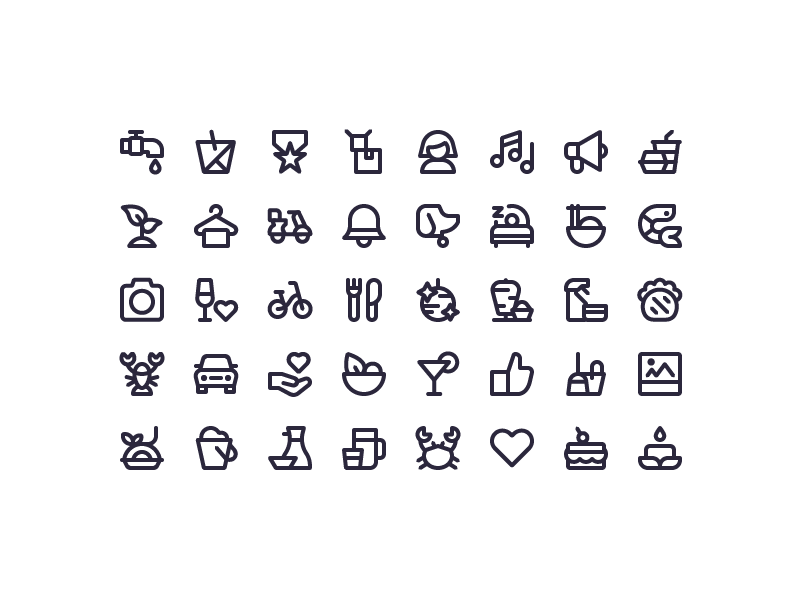 Yelp Icons By Scott Tusk On Dribbble Icon Yelp Create Icon