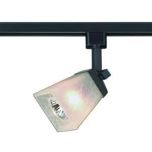 Commercial Electric 1 Light Matte Black Linen Gl Linear Track Lighting Head Ec4188bk