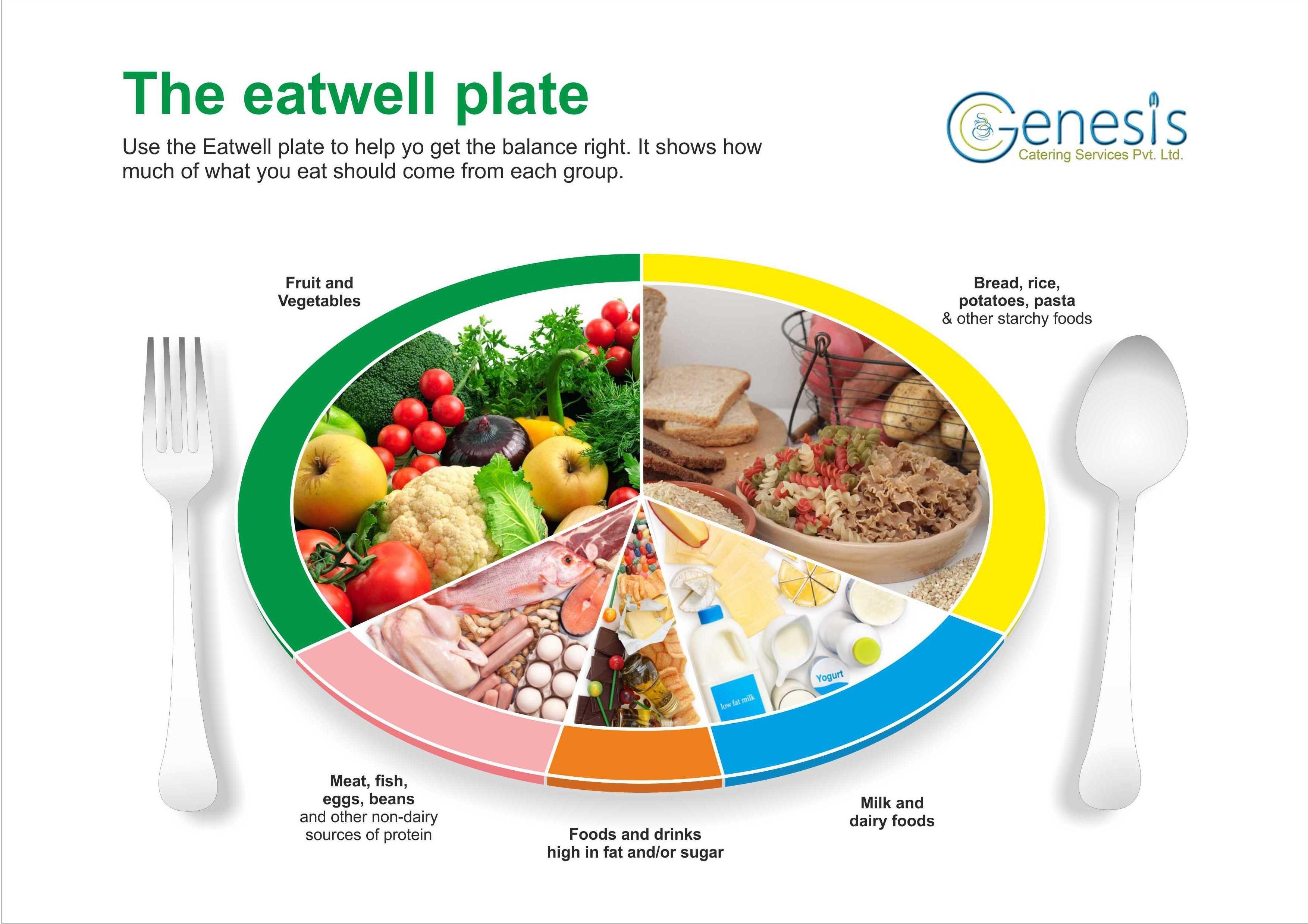 Healthy Food Poster Design | Genesis Catering Pvt  Ltd