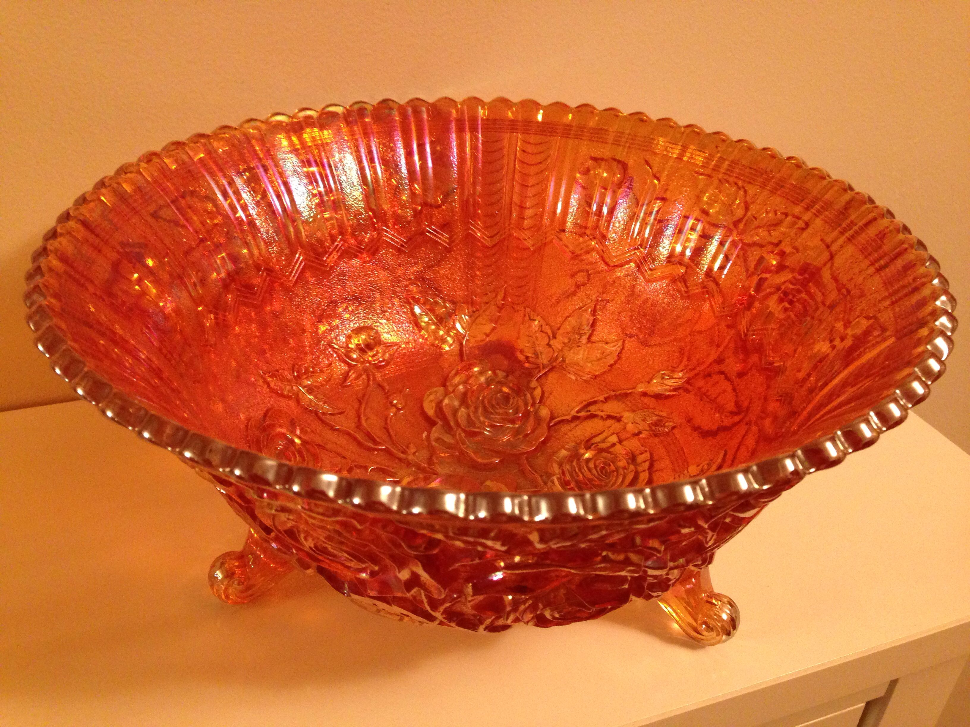 Lustre Rose - Imperial - Footed Fruit Bowl - Marigold