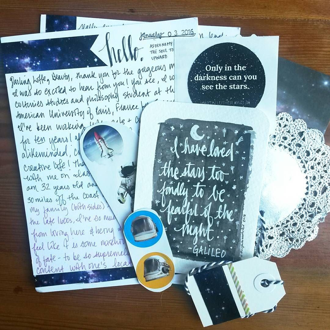 A space themed letter from Michelle! I never received something that