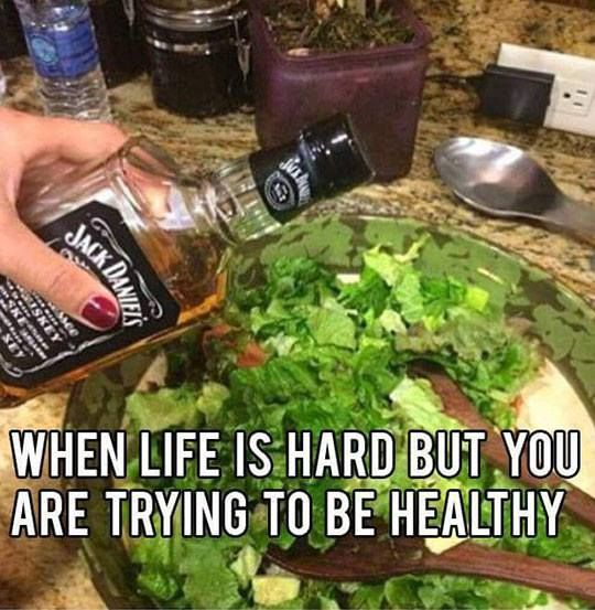 This diet has me in high spirits.