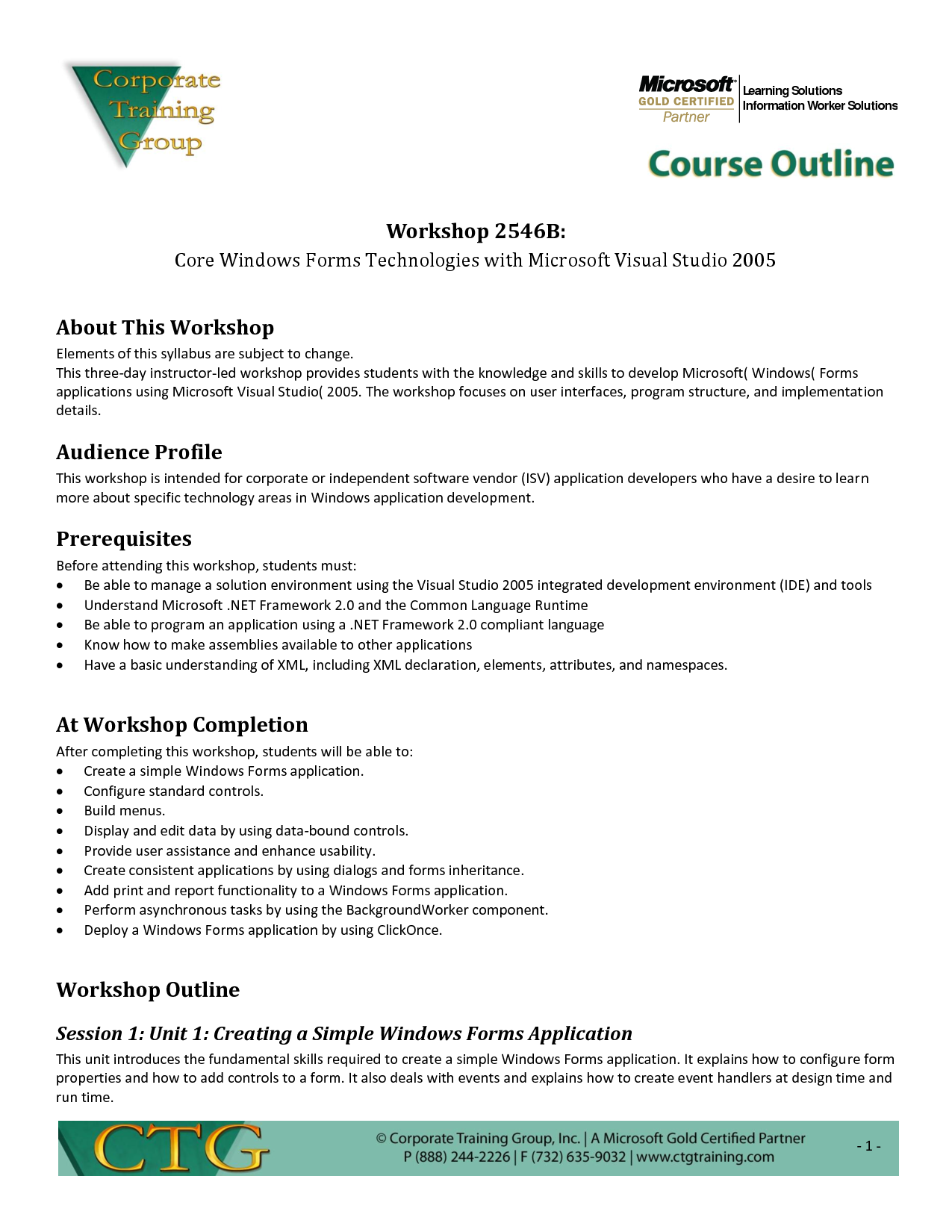Sample Training Outline Template Reference Letter Business