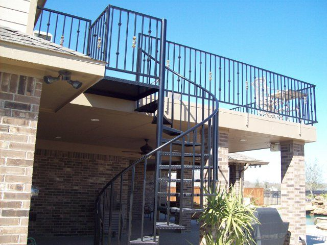 residential outdoor spiral stairs - Outdoor Spiral Staircase