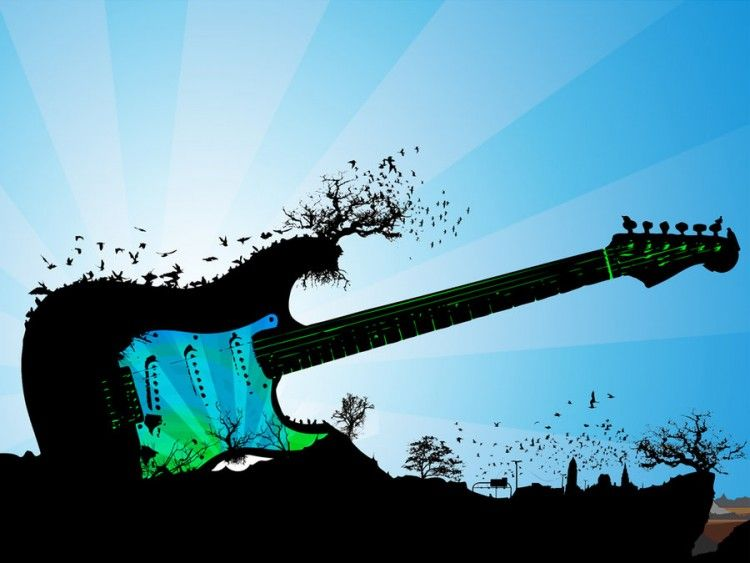 Fonds d'écran Musique > Fonds d'écran Instruments - Guitares île - Guitare par ...