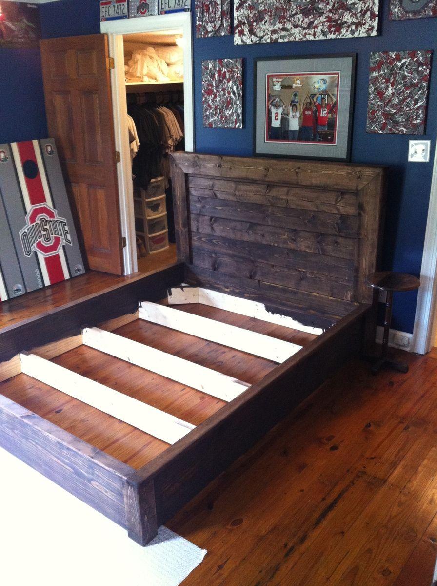 Platform inspired bed frame Ana White Bed frame