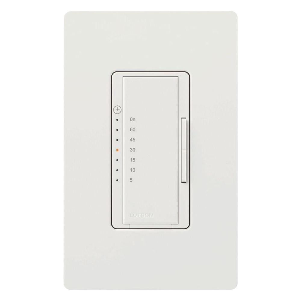 Lutron Maestro 5 Amp In Wall Digital Timer Snow Digital Timer Countdown Timer Bathroom Exhaust Fan