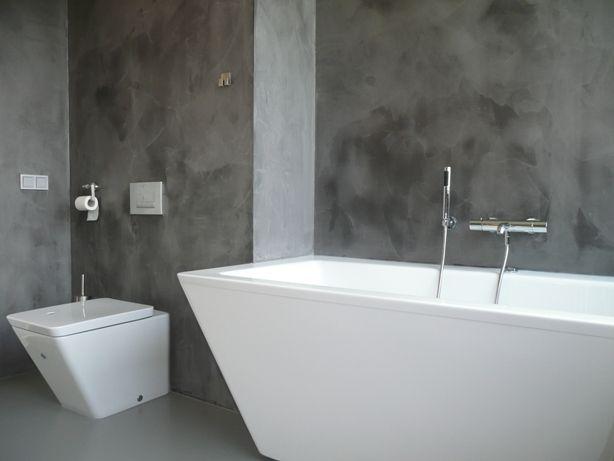 een waterdichte wandafwerking in beton-look voor u badkamer of, Badkamer