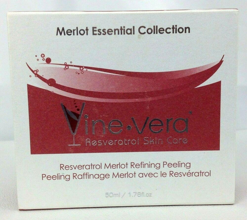Vine Vera Resveratrol Merlot Refining Peeling Mask 1 76 Oz 50ml New In Box Vinevera Vine Vera Resveratrol Peeling Mask Merlot