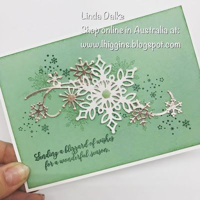 Snowfall thinlits for Beautiful Christmas cards (Linda Higgins