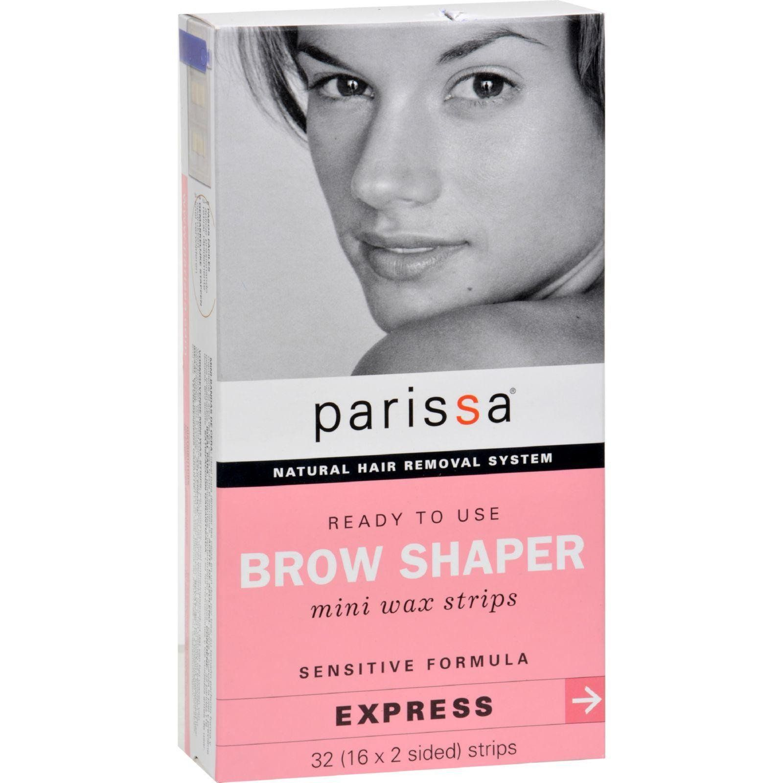 Parissa Natural Hair Removal System Brow Shaper 32 Strips Waxing