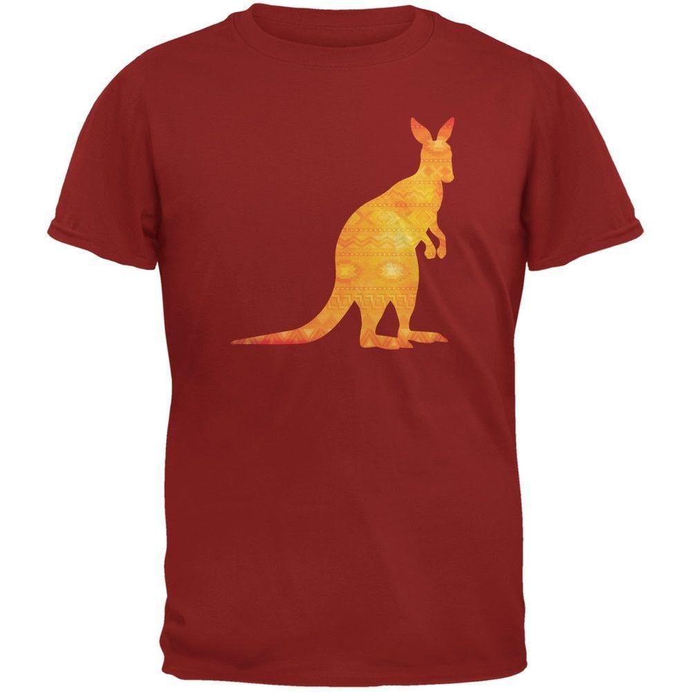 Australian Spirit Animal Kangaroo Brown Adult T Shirt