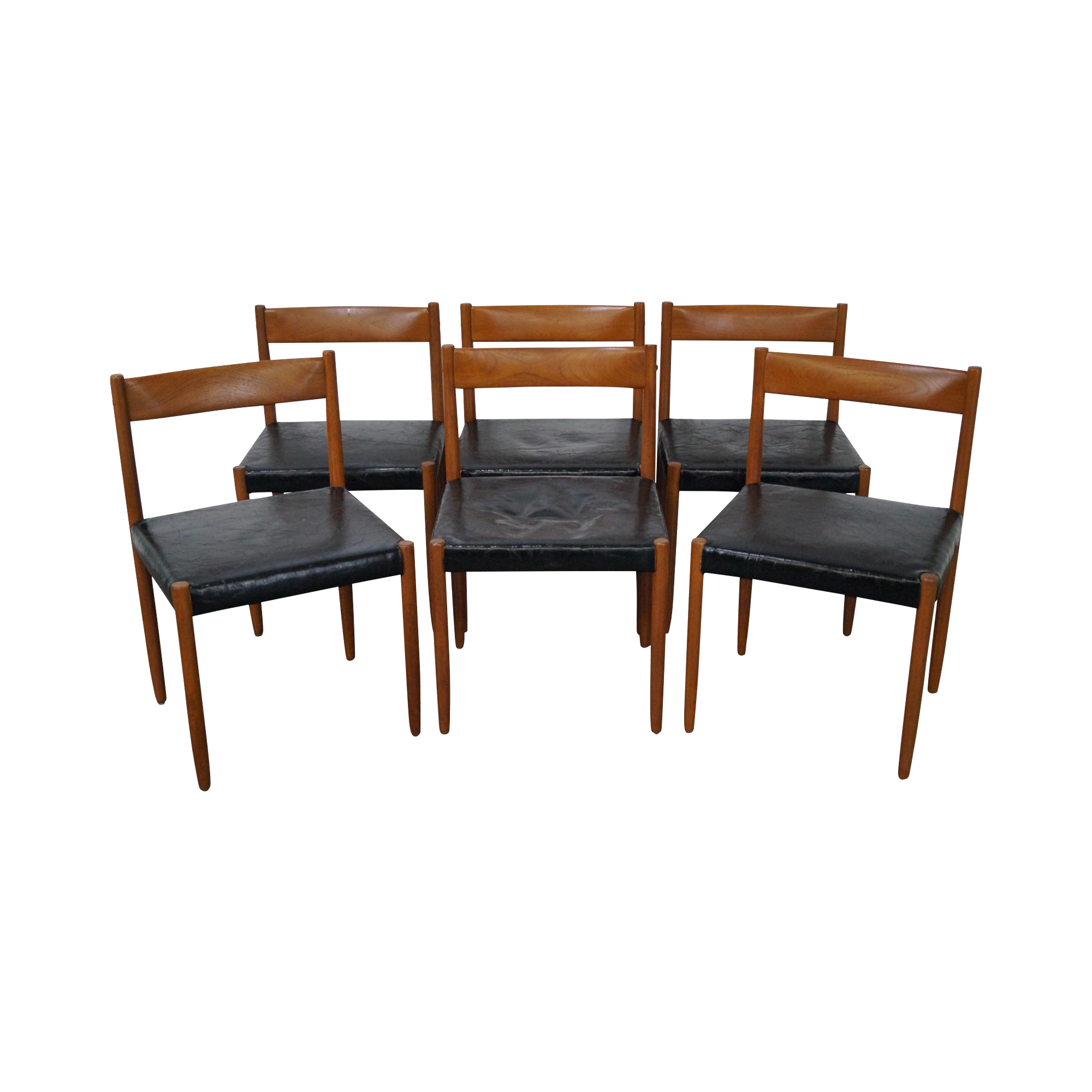 Store Item 14496 Fw Danish Modern Mid Century Set Of 6 Solid Teak Dining Chairs Age Country O Teak Dining Chairs Dining Chairs Modern Classic Furniture