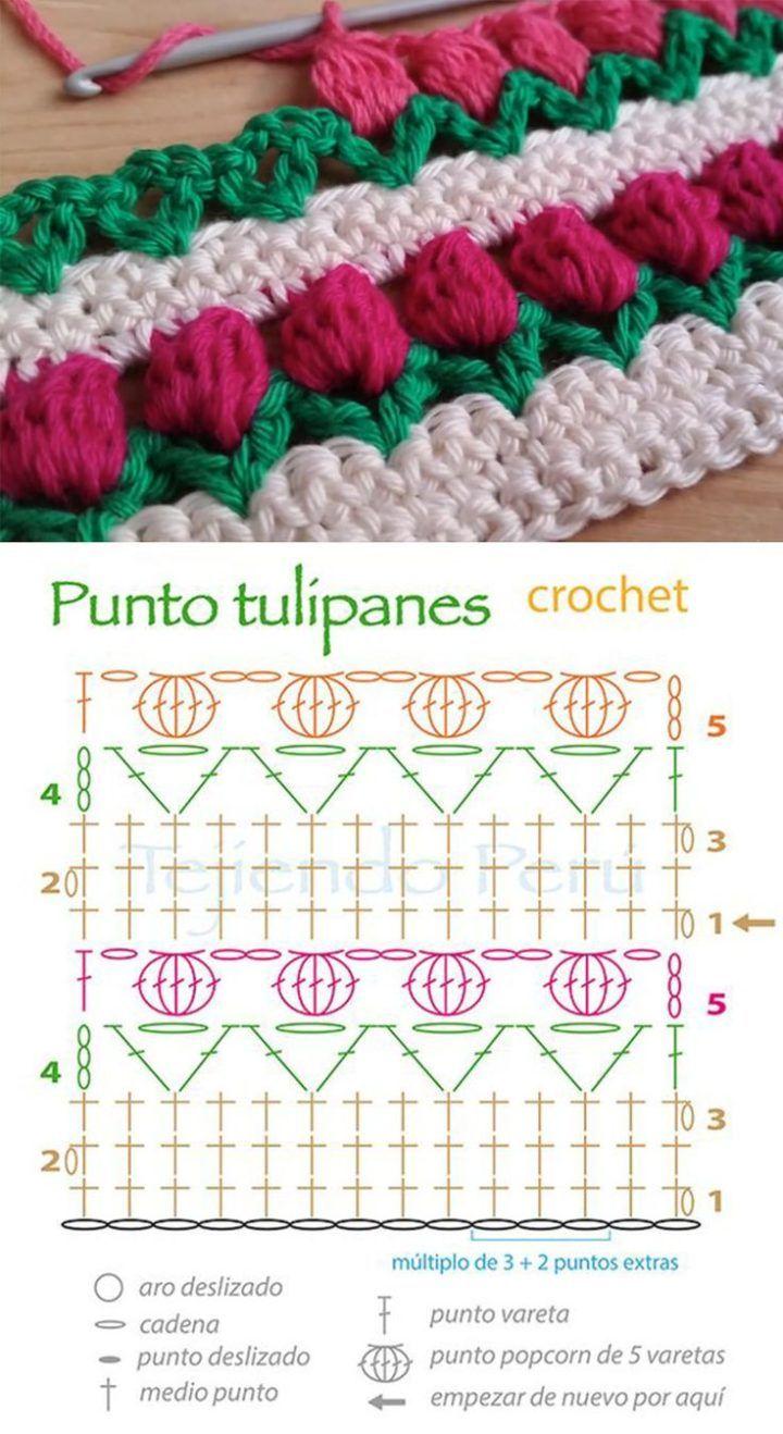 Tulip Stitch Crochet Pattern Tutorial | Hæklemønstre