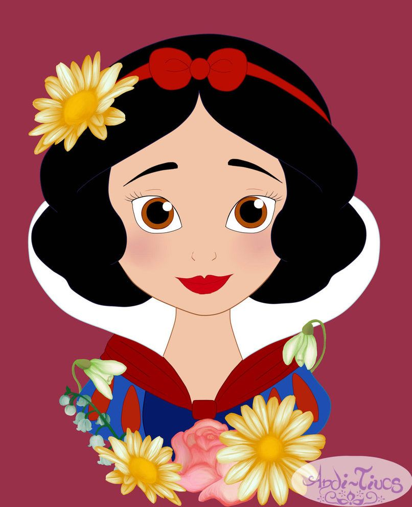 Flower Princess Snow White by Andi-Tiucs on DeviantArt
