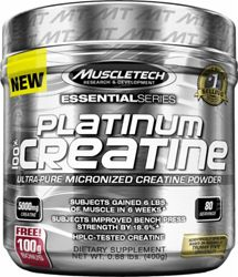 MuscleTech Platinum 100% Creatine - 100% pure unflavored creatine with no fillers or additives to support strength, power and building muscle!