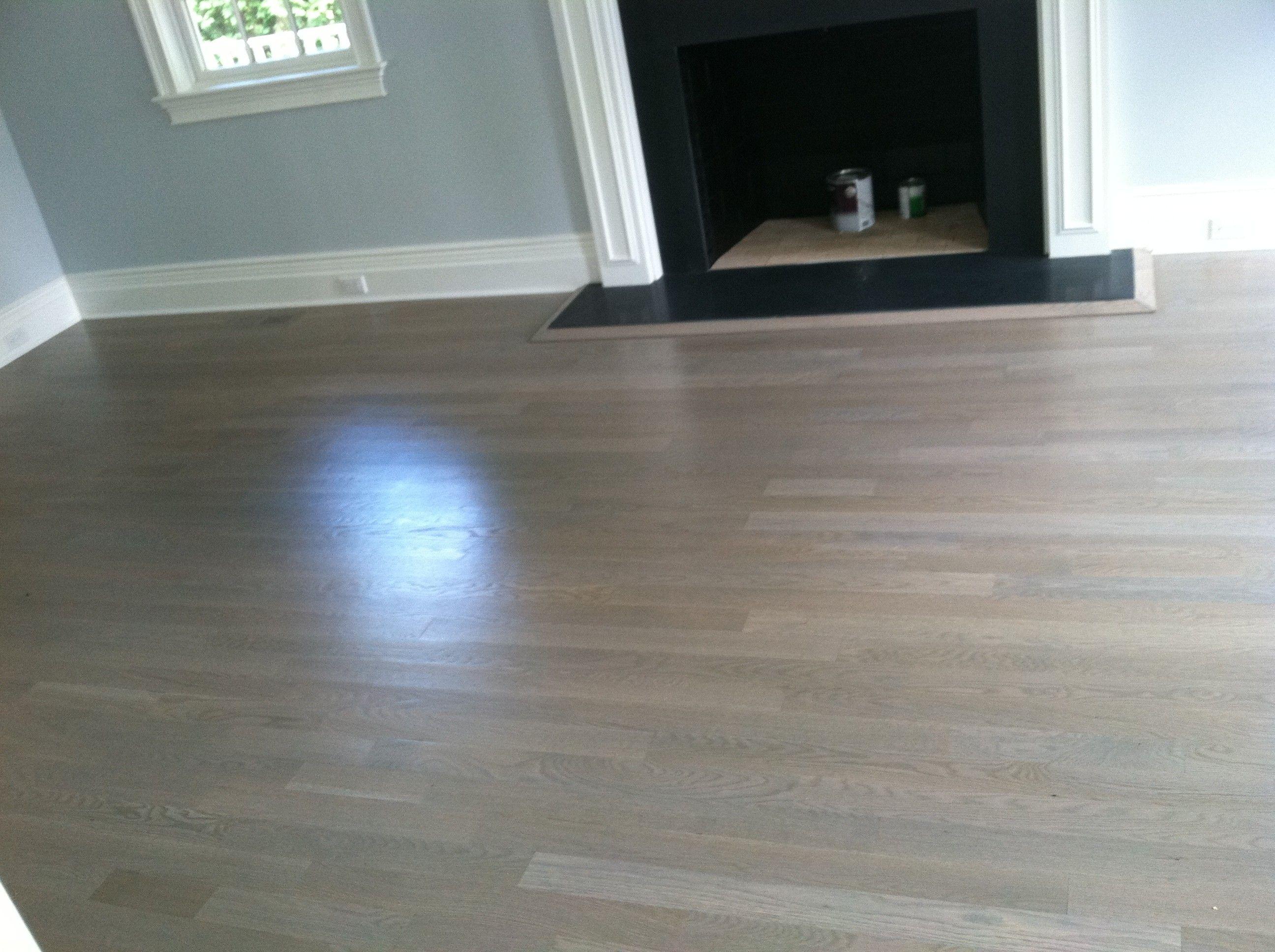 Staining hardwood floors gray  Flooring ideas  Grey