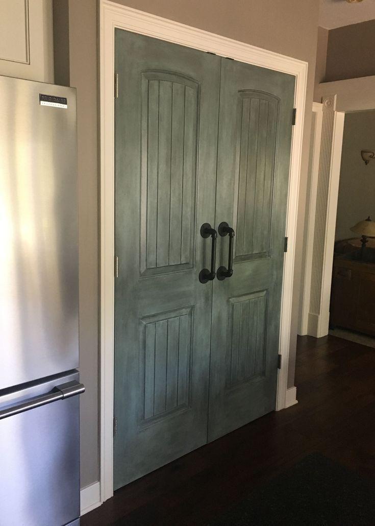 21 Stylish Pantry Door Ideas To Make Your Kitchen Efficient Painted Pantry Doors Barn Door Cabinet Sliding Barn Door Hardware