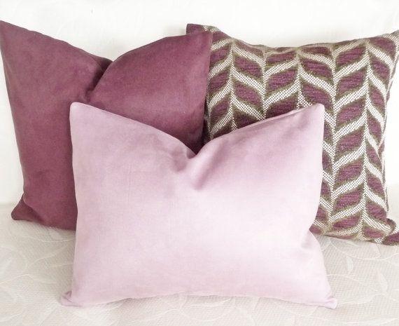 Lilac Pillow Cover Lavender Mauve Decorative Throw