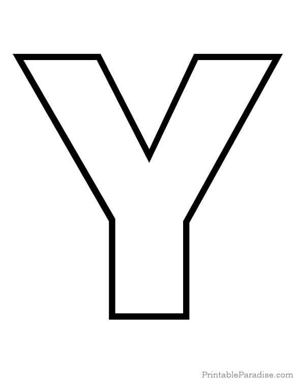 Printable Letter Y Outline   Print Bubble Letter Y | literacy