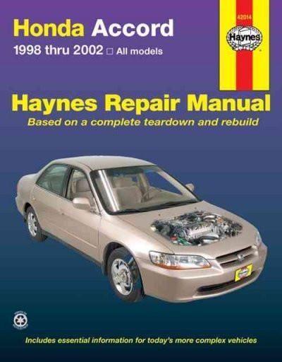 honda accord 1998 thru 2002 all models hayne s automotive repair rh pinterest ch 2002 honda accord repair manual pdf 2004 honda accord repair manual pdf