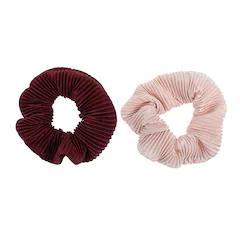 LC Lauren Conrad 2-piece Burgundy Velvet Twister Hair Set #laurenconradhair