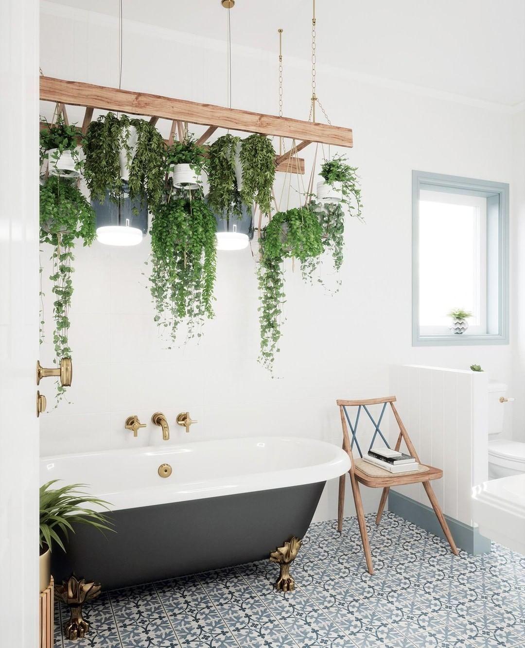 Bathtub Hanging Plants Indoor Bathroom Plants Plant Decor Plant decor for bathroom