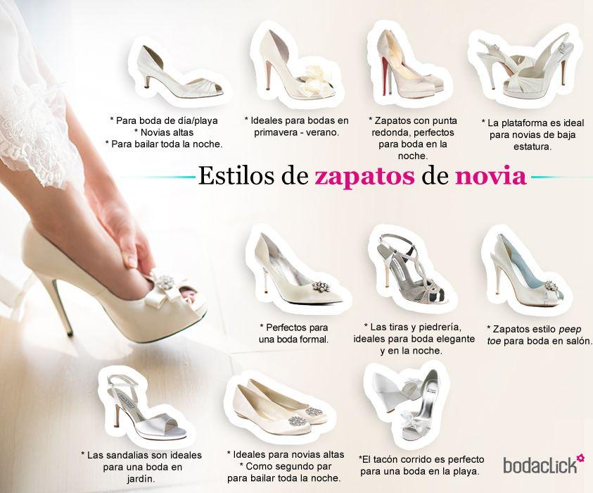tipos de zapatos de novia para la boda #novia #zapatos #boda #look