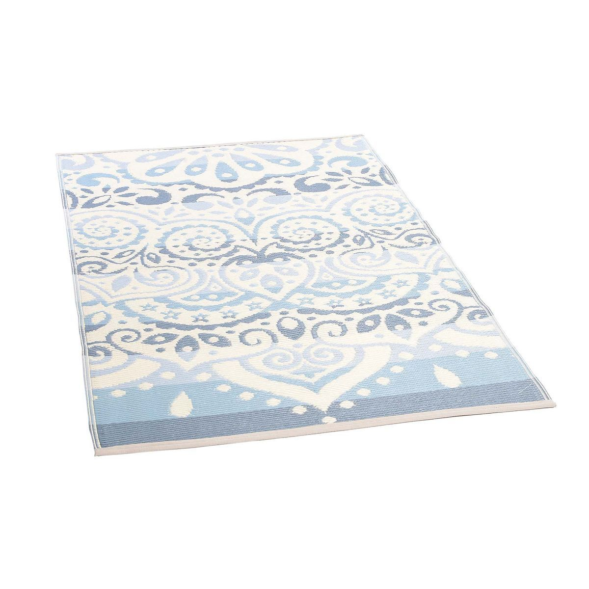 teppich outdoor beidseitig verwendbar b 150cm x l 206cm blau