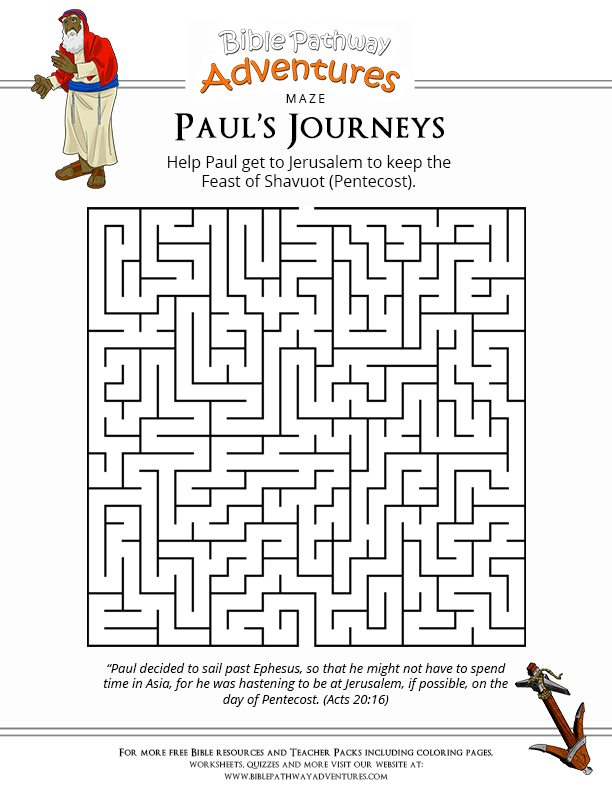 Enjoy our free Bible Maze based on the story: Paul's