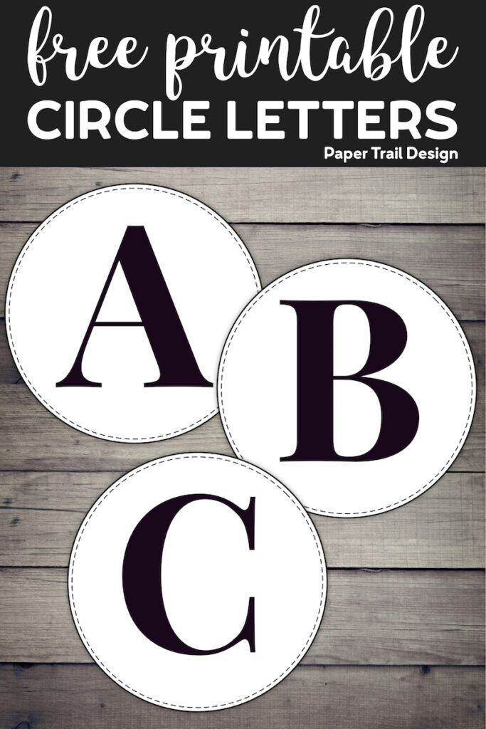 Free Printable Circle Banner Letters {Entire Alphabet} – Paper Trail Design