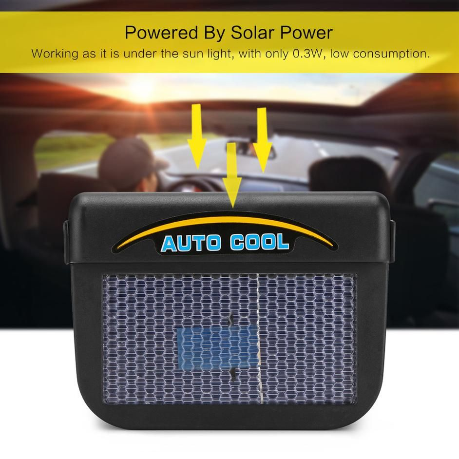 Solar Power Mini Car Air Conditioner Solar power, Solar