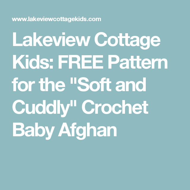 Lakeview Cottage Kids: FREE Pattern for the \