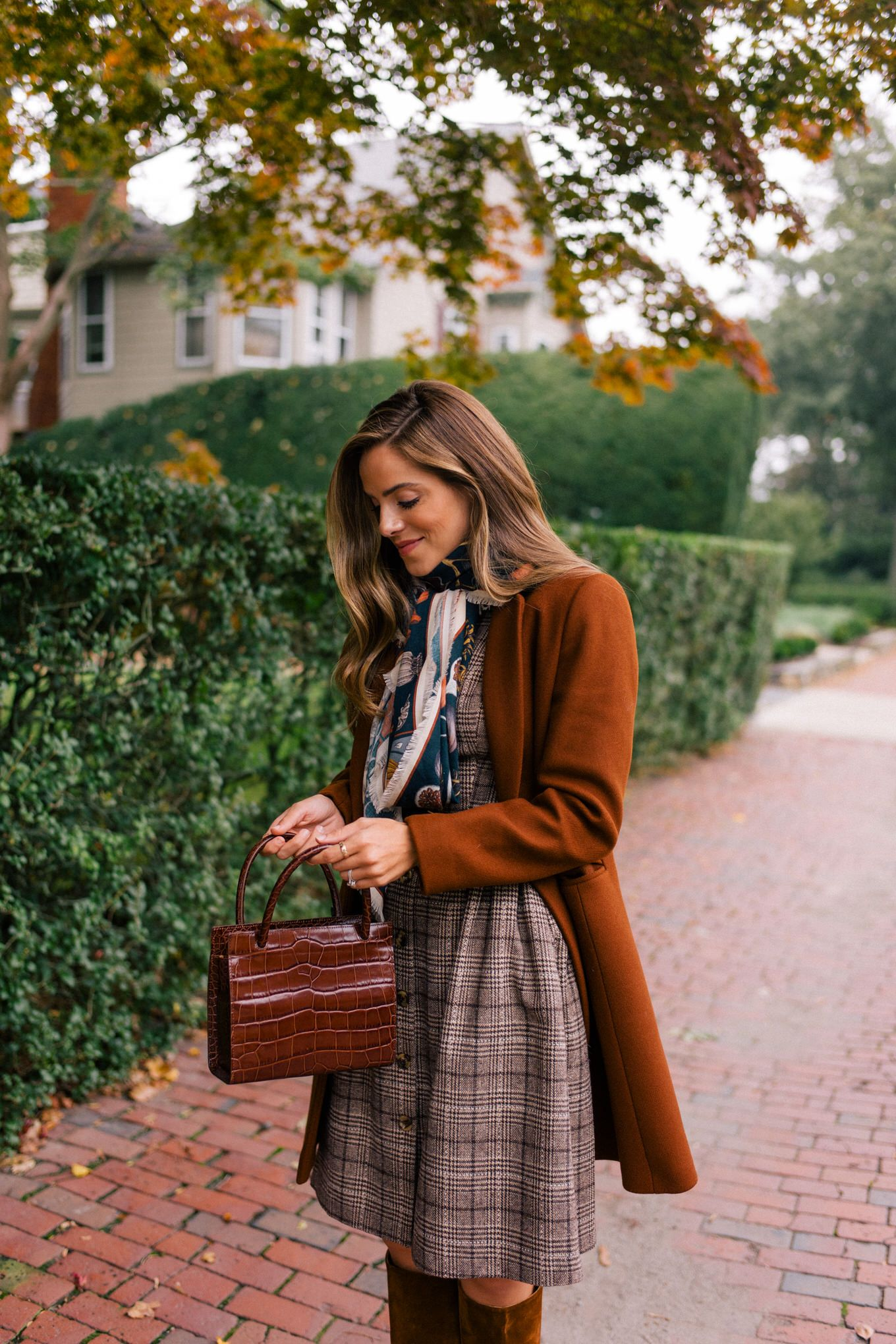 A Plaid Tweed Shirtdress For Fall - Gal Meets Glam