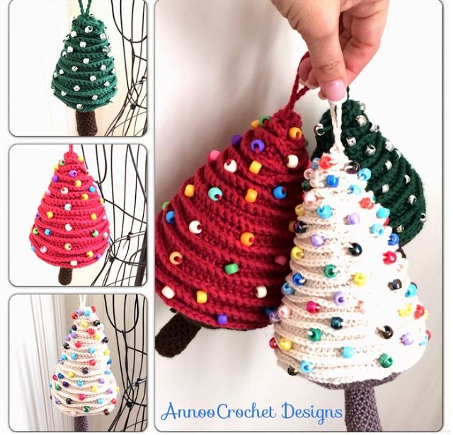 Arboles de Navidad Cadenetas de Crochet - Patrones Crochet | navidad ...