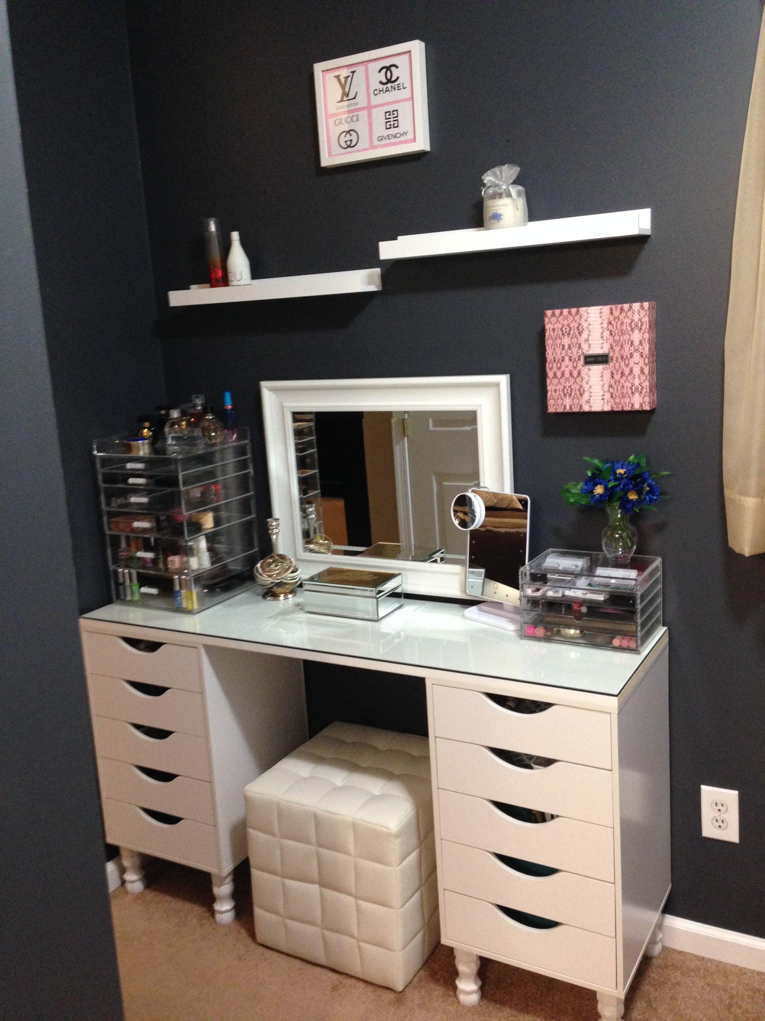 prodigious Ikea Vanity Room Part - 9: DIY Vanity IKEA dupe